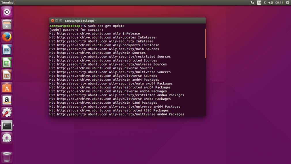 Ubuntu  desktop environment